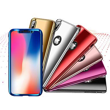 غطاء من أجل Apple iPhone X / إفون 8 ضد الصدمات / تصفيح غطاء كامل للجسم لون سادة قاسي الكمبيوتر الشخصي إلى iPhone X / iPhone 8 Plus / iPhone 8