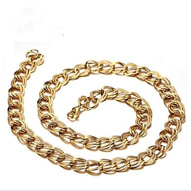 رجالي عقد ستايل سلسلة الثعلب سلسلة مارينر خلاق موضة الصلب التيتانيوم ذهبي فضي ذهبي + فضي 55 cm قلادة مجوهرات 1PC من أجل هدية مناسب للبس اليومي