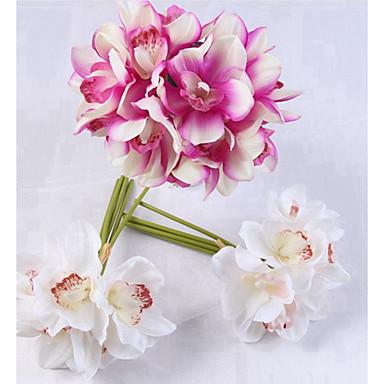 زهور اصطناعية 6 فرع كلاسيكي فردي أنيق النمط الرعوي أرطنسية أزهار الطاولة