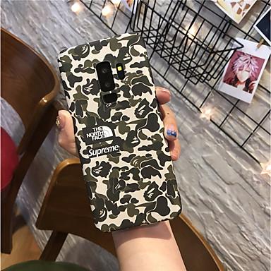 voordelige Galaxy S-serie hoesjes / covers-hoesje Voor Samsung Galaxy S9 / S9 Plus / S8 Plus Mat Achterkant Camouflage Kleur Hard PC