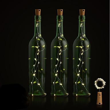 BRELONG® 1PC زجاجة النبيذ سدادة الصمام ليلة الخفيفة أبيض دافئ / أبيض / أحمر زر البطارية بالطاقة خلاق / زفاف / الديكور <5 V