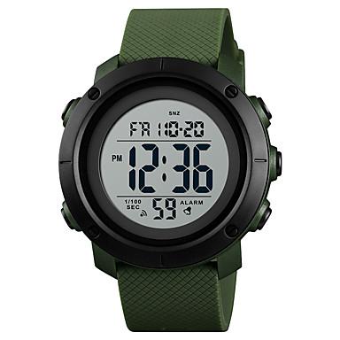 SKMEI رجالي ساعة رياضية ساعة عسكرية ساعة رقمية ياباني رقمي جلد اصطناعي أسود / أخضر 30 m مقاوم للماء المنبه رزنامه رقمي كاجوال موضة - أسود-أخضر أخضر أسود / أبيض سنة واحدة عمر البطارية / الكرونوغراف