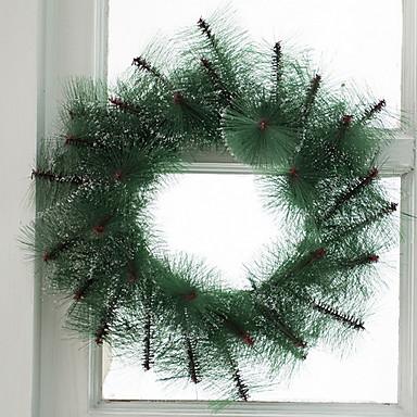 أكاليل / عيد الميلاد الحلي زهريFloral Theme / عطلة بلاستيك دائري حداثة زينة عيد الميلاد