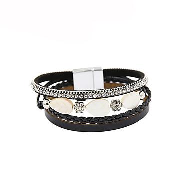 نسائي أساور من الجلد ستايل خلاق سيدات أساسي موضة جلد مجوهرات سوار أسود من أجل هدية مهرجان