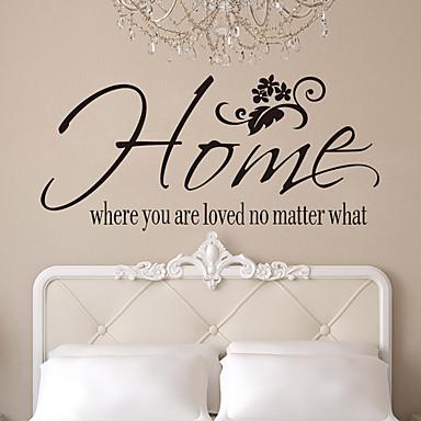 لواصق حائط مزخرفة - الكلمات ونقلت ملصقات الحائط الأحرف غرفة الجلوس / غرفة النوم / دورة المياه