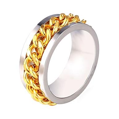 رجالي خاتم 1PC فضي الفولاذ المقاوم للصدأ شائع موضة هدية مناسب للبس اليومي مجوهرات وهق خلاق