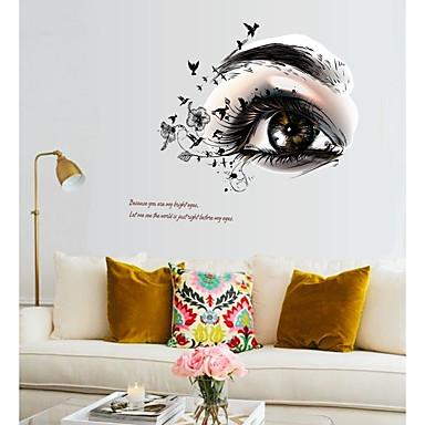 لواصق حائط مزخرفة - لواصق / الناس ملصقات الحائط أشكال / المزين بالأزهار حضانة / غرفة الأطفال