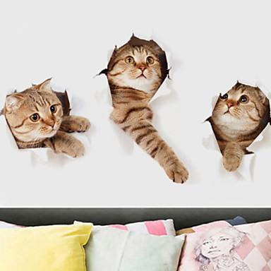 لواصق حائط مزخرفة - ملصقات الحائط الحيوان حيوانات / 3D داخلي