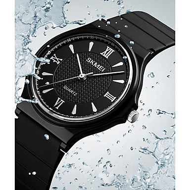 SKMEI نسائي الزوجين ساعة المعصم ساعة رقمية كوارتز جلد اصطناعي أسود 30 m مقاوم للماء كوول مماثل كاجوال موضة - ذهبي أبيض أسود