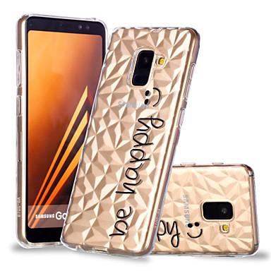 غطاء من أجل Samsung Galaxy A6 (2018) / A6+ (2018) / A8 2018 نموذج غطاء خلفي جملة / كلمة ناعم TPU