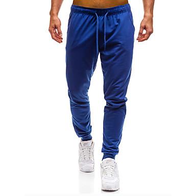 رجالي أساسي مناسب للبس اليومي نحيل بنطلونات بنطلون - لون سادة قطن رمادي غامق رمادي أزرق البحرية L XL XXL