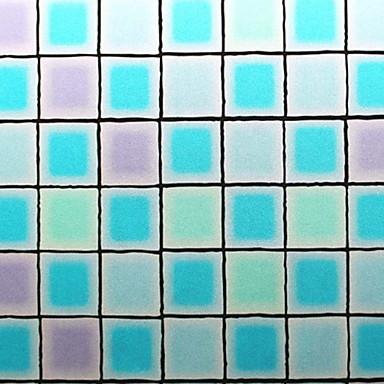 فيلم نافذة وملصقات زخرفة معاصر هندسي PVC ملصق النافذة