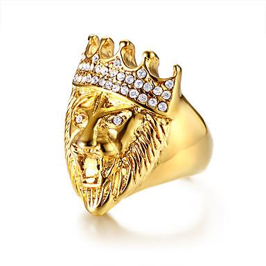رجالي خاتم البيان الراتنج 1PC ذهبي الفولاذ المقاوم للصدأ فني شائع هيب هوب هدية مراسم مجوهرات ستايل كوول