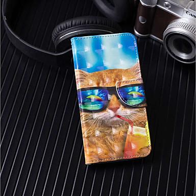 غطاء من أجل Apple iPhone X / iPhone 8 Plus محفظة / حامل البطاقات / مع حامل غطاء كامل للجسم قطة قاسي جلد PU إلى iPhone X / iPhone 8 Plus / iPhone 8