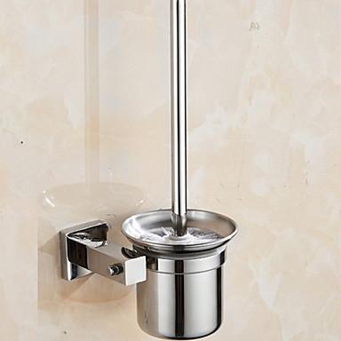 حاملة فرشاة التواليت تصميم جديد / كوول معاصر الفولاذ المقاوم للصدأ / الحديد 1PC حامل فرشاة الحمام مثبت على الحائط
