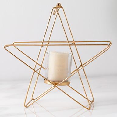 الطراز الأوروبي الحديد Candle Holders شمعدان 1PC, شمعة / حامل شمعة