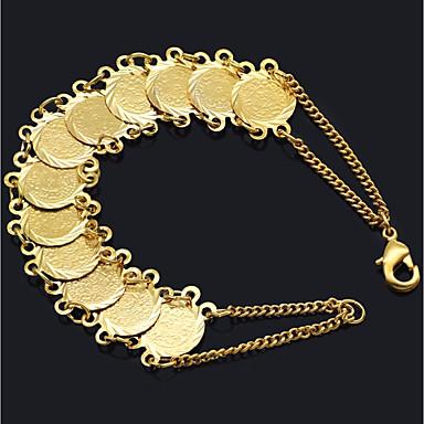 نسائي عملة ربط سلسلة أساور خمر الإسورة واسعة دولار سعيد الحظ سيدات ترف كلاسيكي عتيق سوار مجوهرات ذهبي من أجل شارع الحانة Bar
