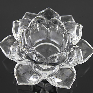 European Style Glass Candle Holders Candelabra 1pc, Candle / Candle Holder