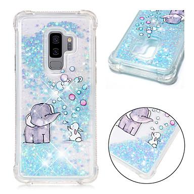 voordelige Galaxy S-serie hoesjes / covers-hoesje Voor Samsung Galaxy S9 / S9 Plus / S8 Plus Schokbestendig / Stromende vloeistof / Patroon Achterkant Glitterglans / Olifant Zacht TPU