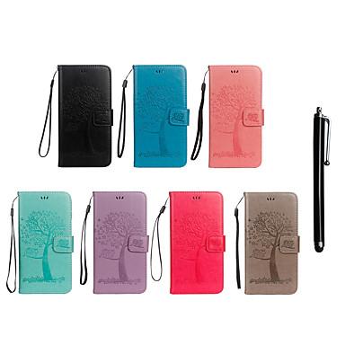 voordelige Galaxy Note-serie hoesjes / covers-hoesje Voor Samsung Galaxy Note 9 / Note 8 Portemonnee / Kaarthouder / met standaard Volledig hoesje Uil / Boom Hard PU-nahka