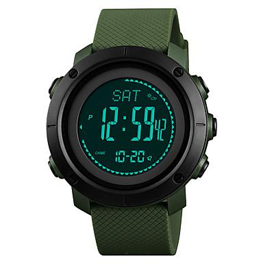 Χαμηλού Κόστους Ανδρικά ρολόγια-SKMEI Ανδρικά Γυναικεία Αθλητικό Ρολόι Στρατιωτικό Ρολόι Ψηφιακό ρολόι Ιαπωνικά Ψηφιακό Συνθετικό δέρμα με επένδυση Μαύρο / Πράσινο 30 m Ανθεκτικό στο Νερό Συναγερμός Ημερολόγιο Ψηφιακό / Ενας χρόνος