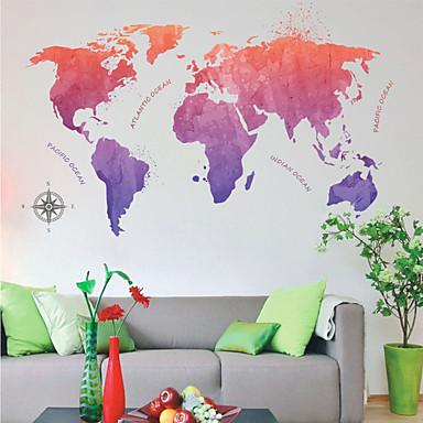 لواصق حائط مزخرفة - خريطة ملصقات الحائط خرائط غرفة الجلوس / غرفة النوم / دورة المياه