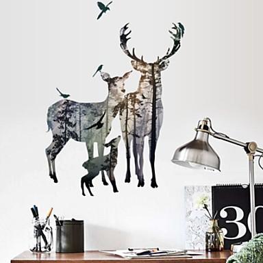 لواصق حائط مزخرفة - ملصقات الحائط الحيوان كريستمس غرفة النوم