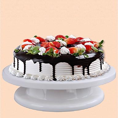 تزيين الكعكة تزيين كعكة صلبة وخفيفة الوزن القرص الدوار ديي مع عدم الانزلاق كعكة جعل الدائري