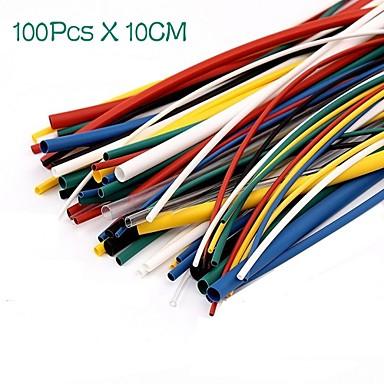 100pcs Schrumpfschläuche Schlauch Sleeving Wrap Kabel Kabelsatz