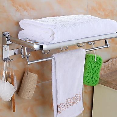 قضيب المنشفة متعدد الطبقات معاصر الفولاذ المقاوم للصدأ / الحديد 1PC - حمام الفندق مزدوج مثبت على الحائط