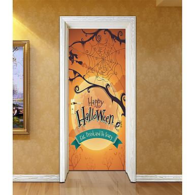ملصقات الباب - ملصقات الحائط الحيوان / عطلة ملصقات الحائط أشكال / Halloween داخلي / غرفة الأطفال