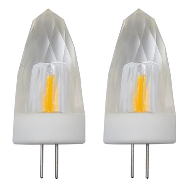 3 واط g4 الصمام شمعة لمبة الكريستال إنقاذ مصباح 1505 cob smd ac 110 فولت 120 فولت دافئ / الباردة الأبيض (2 قطع)