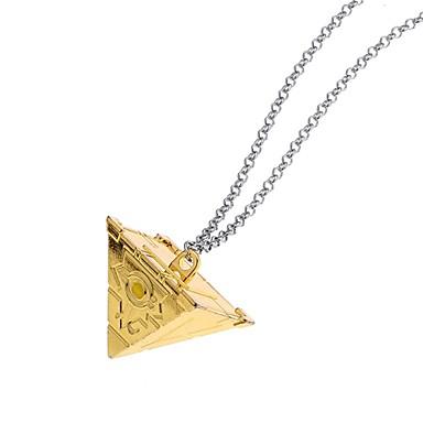 رجالي كلاسيكي مجوّف قلائد الحلي عبارة أنيمي لوليتا غورو كوول ذهبي فضي 50 cm قلادة مجوهرات 1PC من أجل شارع نادي