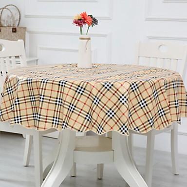 معاصر محبوكة دائري قماش الطاولة هندسي الجدول ديكورات 1 pcs