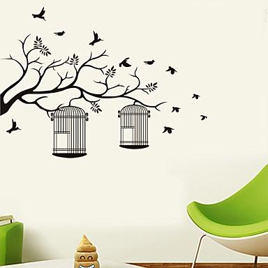 لواصق حائط مزخرفة - لواصق حائط الطائرة الأزهار / النباتية غرفة الجلوس / غرفة النوم / دورة المياه