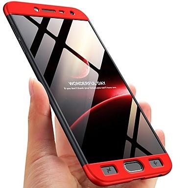 غطاء من أجل Samsung Galaxy J8 / J7 Duo / J7 Prime ضد الصدمات / مثلج غطاء كامل للجسم لون سادة قاسي الكمبيوتر الشخصي