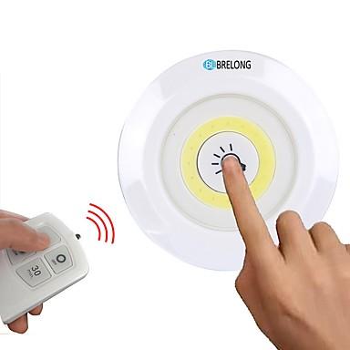 BRELONG® مل 3pcs / 1PC الصمام ليلة الخفيفة أبيض بطاريات آا بالطاقة تخفيت / لاسلكي / مخزنة <5 V