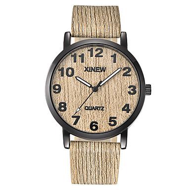 preiswerte Uhren Herren-Herrn Uhr Sportuhr Armbanduhr Quartz Gestepptes PU - Kunstleder Braun / Grau / Khaki Neues Design Cool Punk Analog Retro Freizeit Grau Braun Kaffee / Ein Jahr