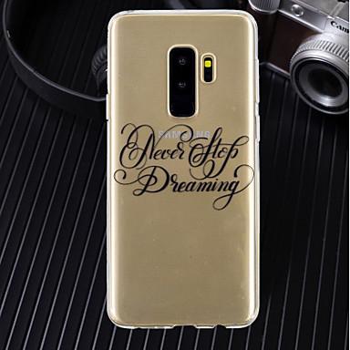 غطاء من أجل Samsung Galaxy A5(2018) / A6 (2018) / A6+ (2018) نحيف جداً / شفاف / نموذج غطاء خلفي جملة / كلمة ناعم TPU
