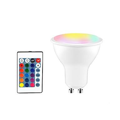 1PC 5 W LED ضوء سبوت 350 lm GU10 E26 / E27 3 الخرز LED مصلحة الارصاد الجوية 5050 Smart تخفيت جهاز تحكم RGBW 85-265 V / بنفايات