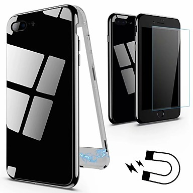 voordelige iPhone 6 Plus hoesjes-hoesje Voor Apple iPhone X / iPhone 8 Plus / iPhone 8 IMD Achterkant Effen Hard Gehard glas