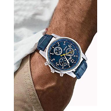 Χαμηλού Κόστους Ανδρικά ρολόγια-Ανδρικά Αθλητικό Ρολόι Ρολόι Καρπού Παρακολουθήστε την αεροπορία Χαλαζίας Συνθετικό δέρμα με επένδυση Μαύρο / Λευκή / Μπλε Χρονογράφος Δημιουργικό Καθημερινό Ρολόι Αναλογικό Πολυτέλεια Μοντέρνα -