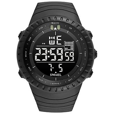 levne Pánské-SMAEL Pánské Sportovní hodinky Digitální hodinky japonština Japonské Quartz Z umělé kůže Černá / Tmavozelená 50 m Voděodolné Kalendář Stopky Analog - Digitál Na běžné nošení Módní - Černá Tmavě zelená