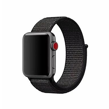 Nylon Watch kapela Popruh pro Apple Watch Series 3 / 2 / 1 Černá / Stříbro / Orange 23cm / 9 palce 2.1cm / 0.83 palce