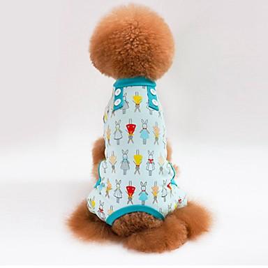 كلاب قطط منامة ملابس الكلاب هندسي زهور أخضر أزرق زهري قطن كوستيوم من أجل كلب البج Bichon فرايز أفطس الربيع الصيف انثى تصميم أنيق كاجوال / يومي