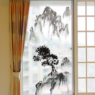 فيلم نافذة وملصقات زخرفة شينوسيري كلاسيكي PVC ملصق النافذة