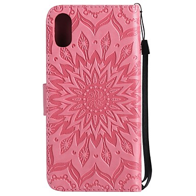 portafoglio X decorativo supporto 8 8 iPhone Plus Apple carte Resistente X Fiore Custodia per Con 8 06910069 pelle iPhone iPhone credito sintetica Porta di Integrale Per iPhone iPhone A qwOBxa0