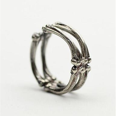 זול טבעות-בגדי ריקוד גברים סגנון וינטג' פתח את הטבעת מצופה כסף יצירתי וינטאג' פאנק Fashion Ring תכשיטים כסף עבור חג מולד Halloween מתכוונן