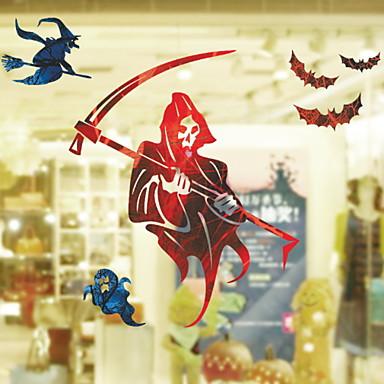 فيلم نافذة وملصقات زخرفة Halloween عطلة PVC كوول / شوب / مقهى