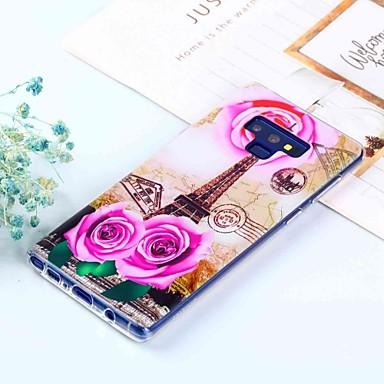 voordelige Galaxy Note-serie hoesjes / covers-hoesje Voor Samsung Galaxy Note 9 / Note 8 Patroon Achterkant Eiffeltoren Zacht TPU